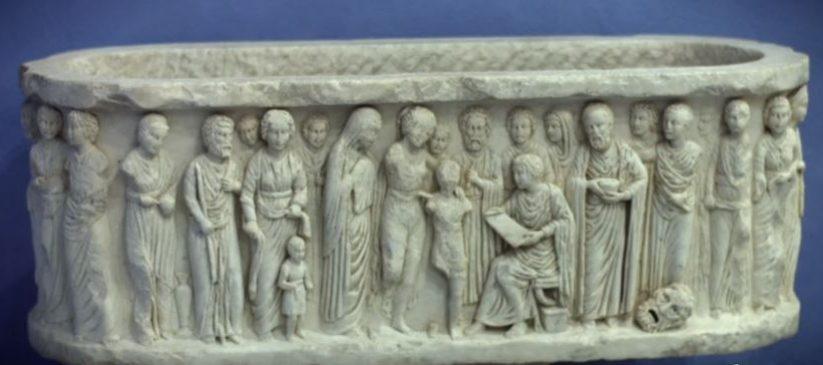 sarcofago scuderie Aldobrandini